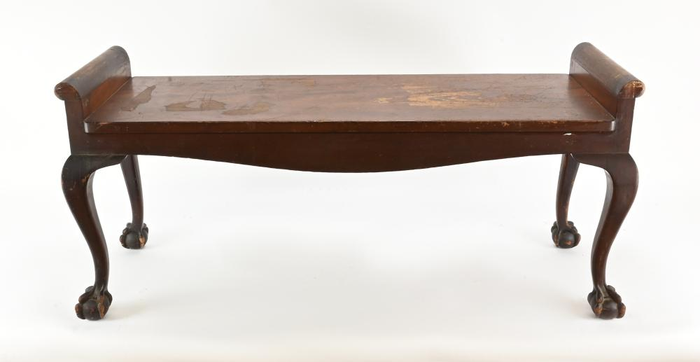 Formal Chippendale Style Bench