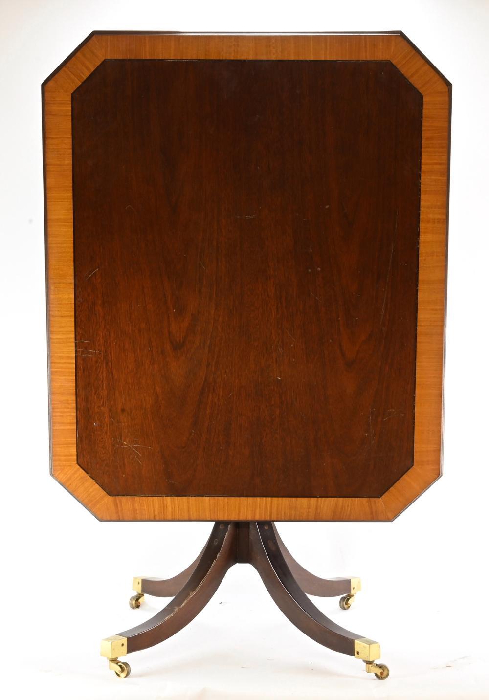 Formal Mahogany Duncan Phyfe Tilt Top Card Table