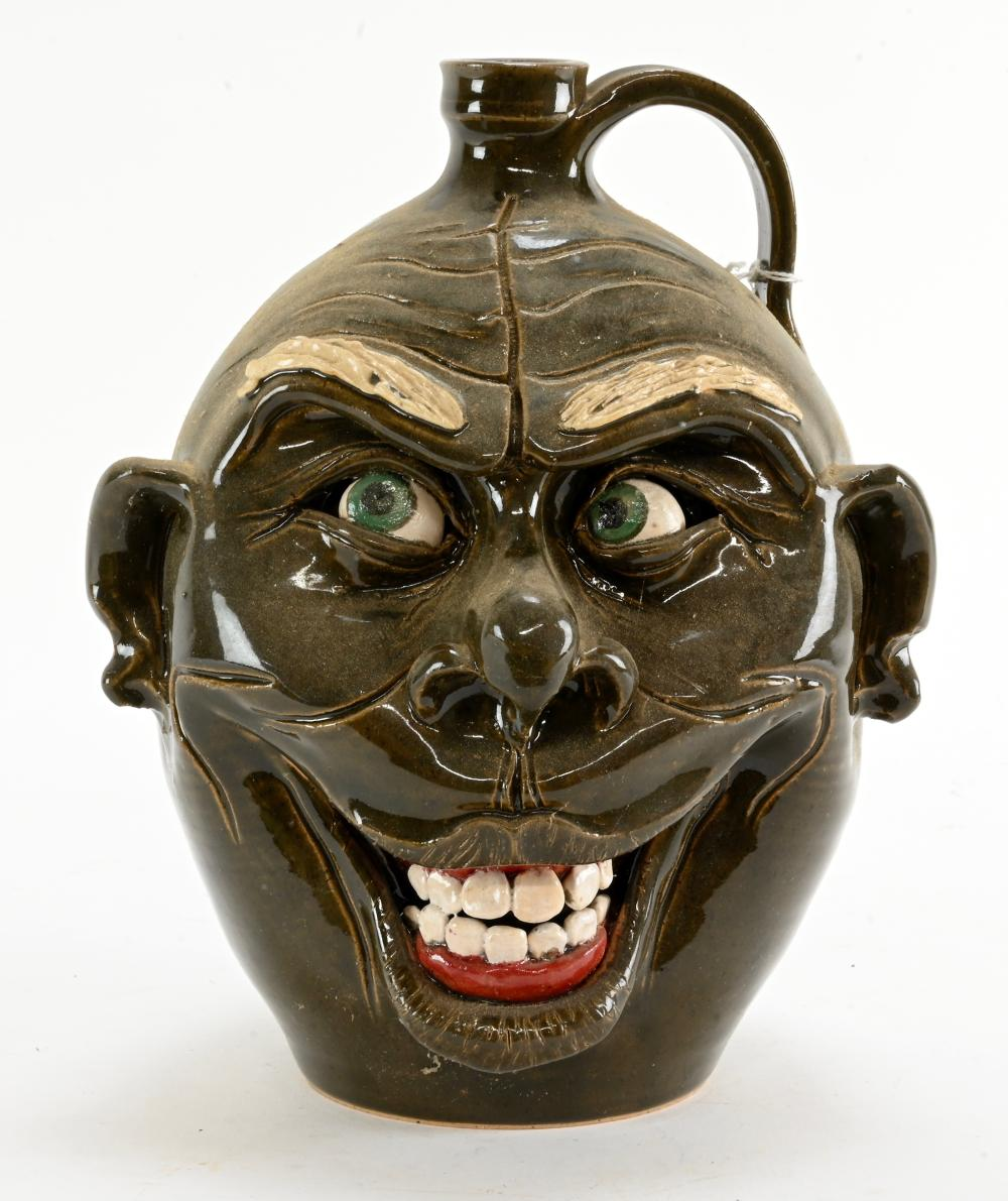 McKay Pottery Seagrove N.C. Pottery Face Jug