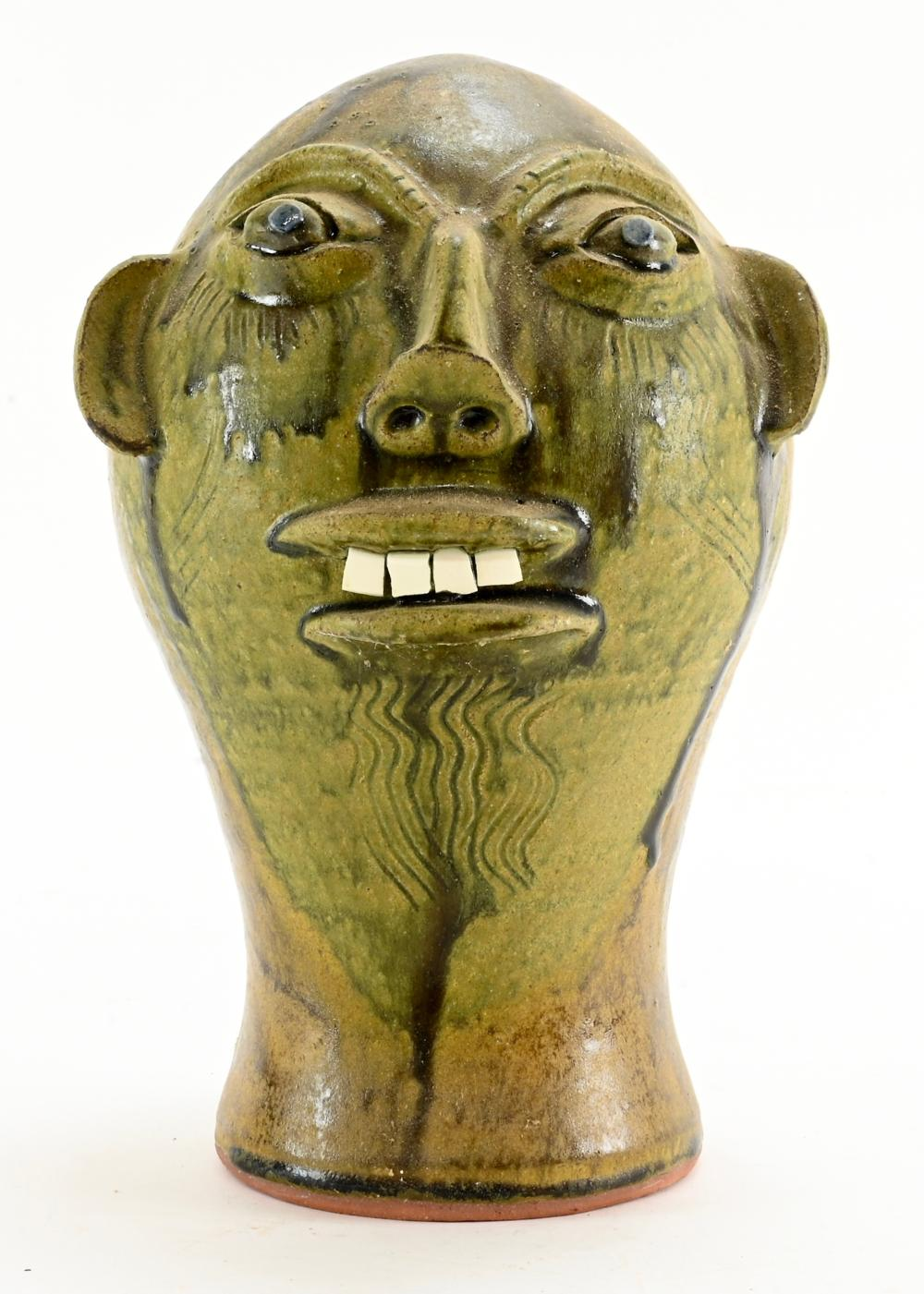 Walter P. Fleming Art Pottery Face Wig Stand