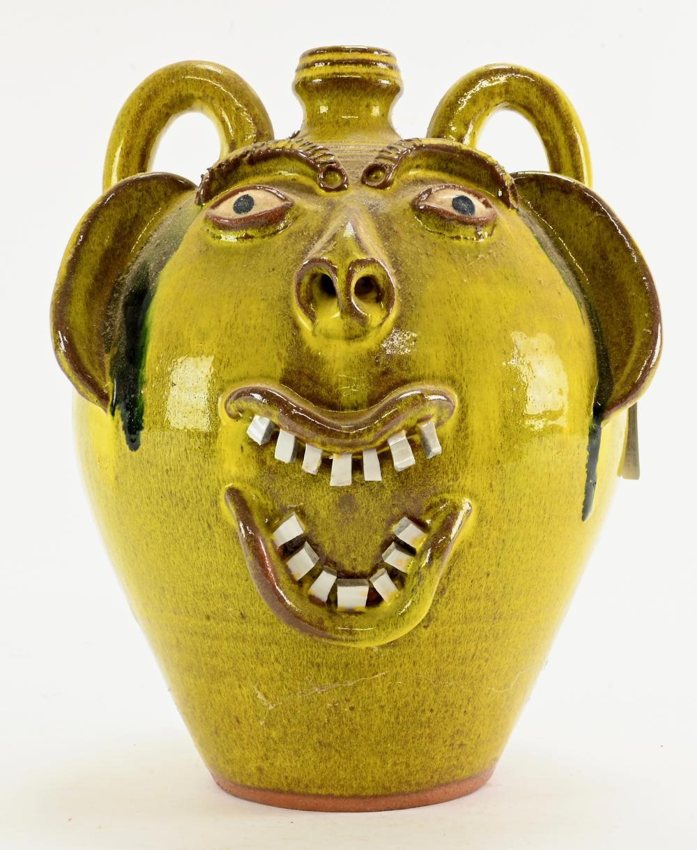 A.V. Smith Art Pottery Face Jug