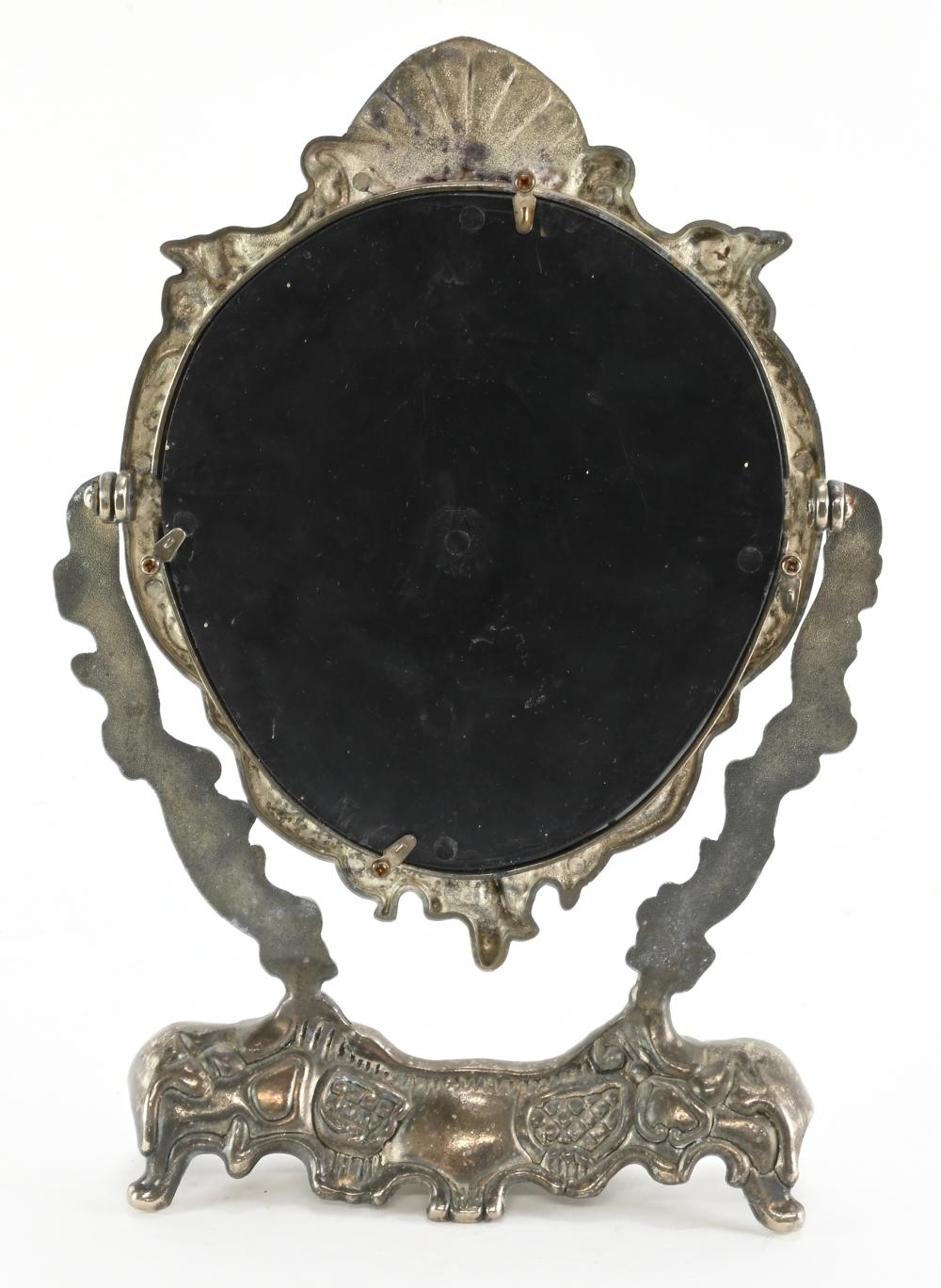 Vintage French Style Cherubs Dressing Mirror Stand