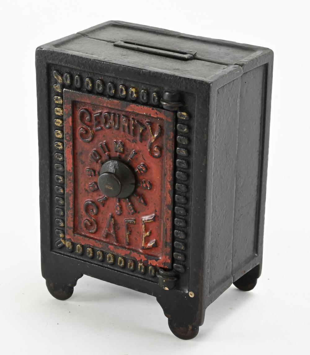 Antique Security Safe Coin Bank