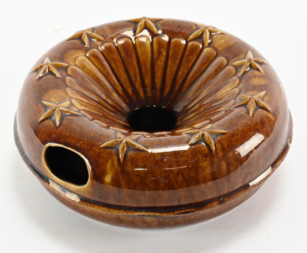Antique Bennington Pottery Stars Spittoon