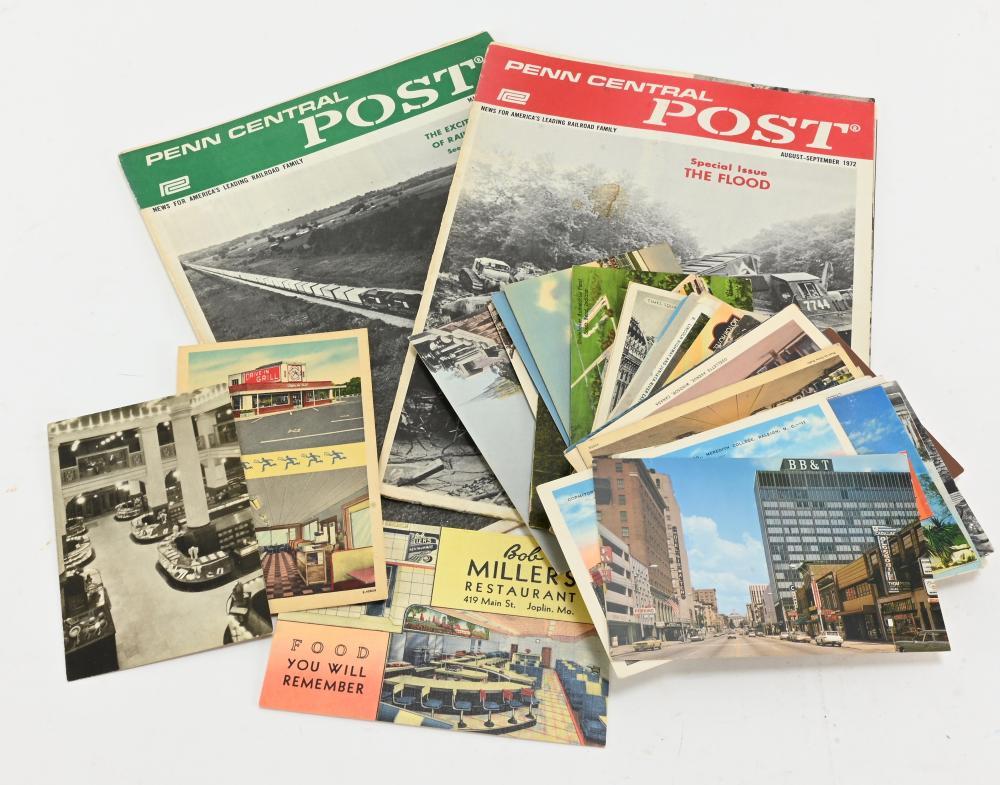 Vintage Penn Central Post Magazines Paper Postcards Group Lot