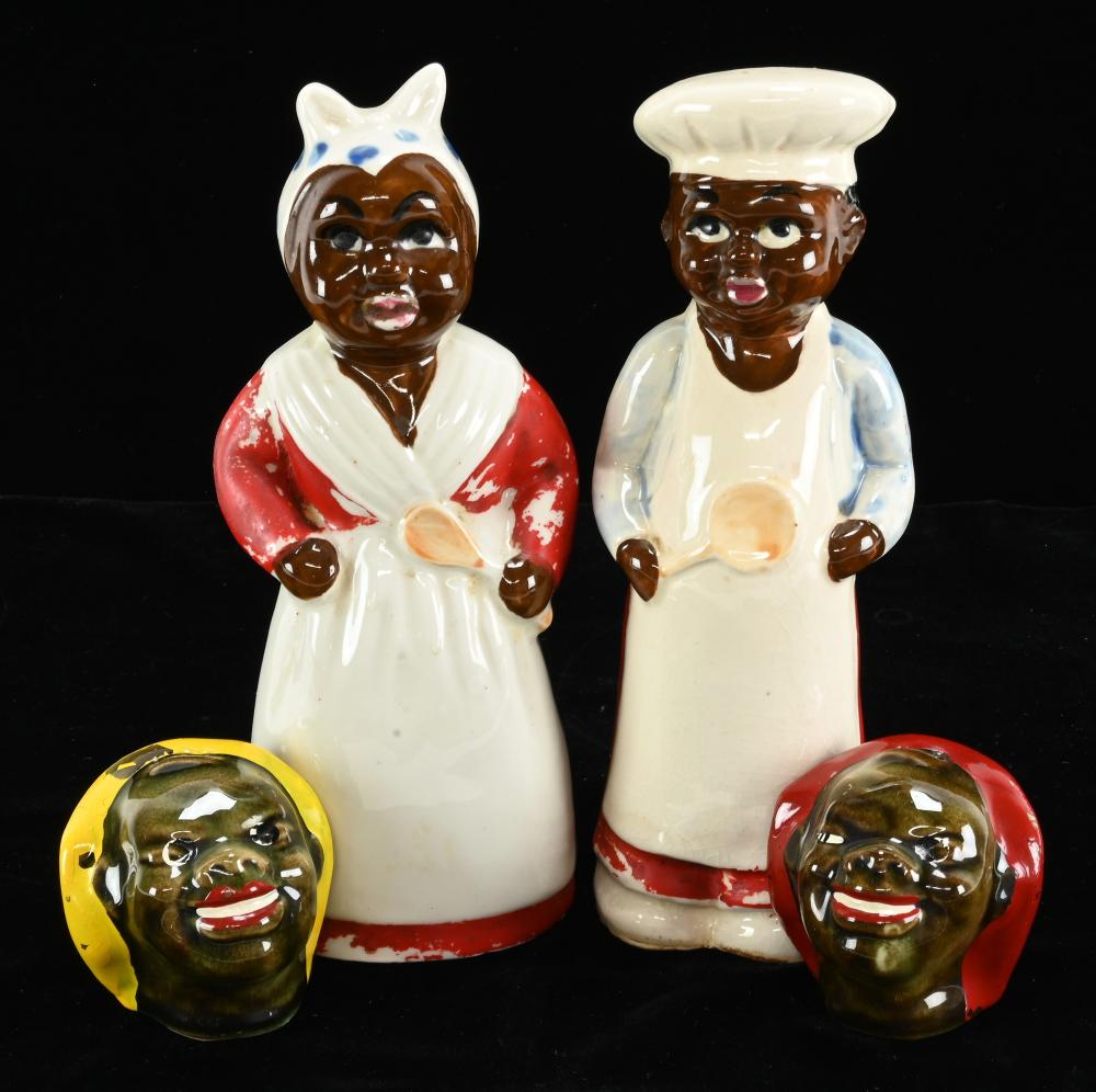 Vintage Black Americana Shakers