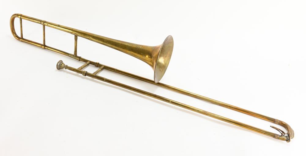 Antique J. Howard Foote Brass Trombone