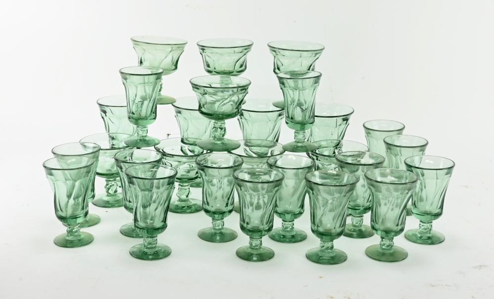 Vintage Fostoria Jamestown Green Crystal Collection