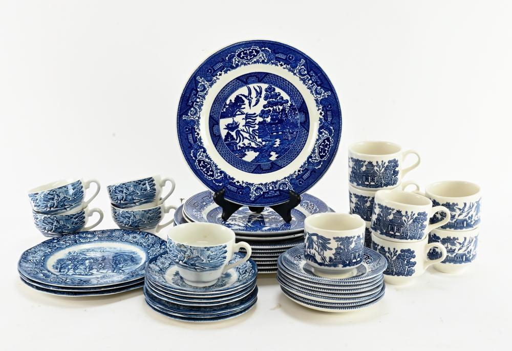 Vintage Blue Willow Dinnerware China