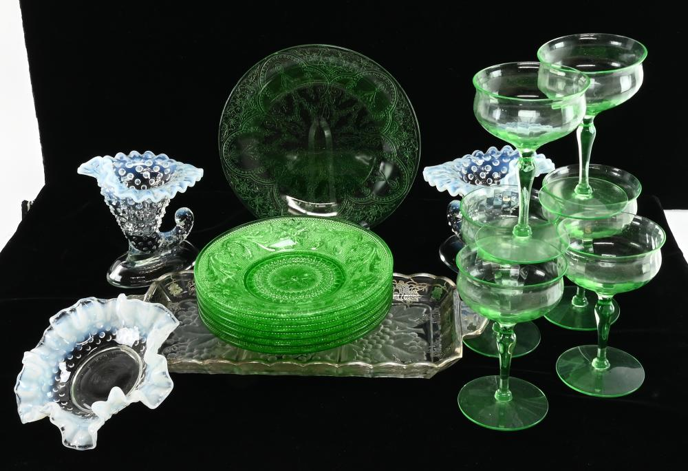 Vintage Depression And Fenton Glass Collection