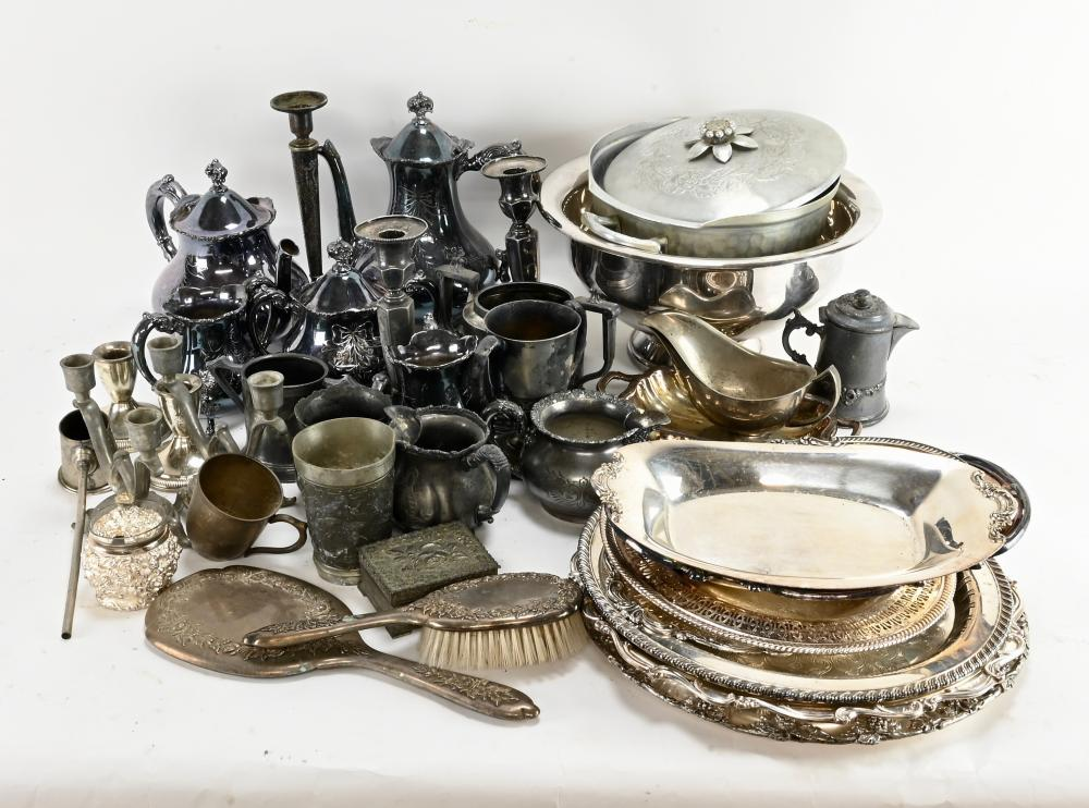 Antique Silver Plated Articles Estate Collection
