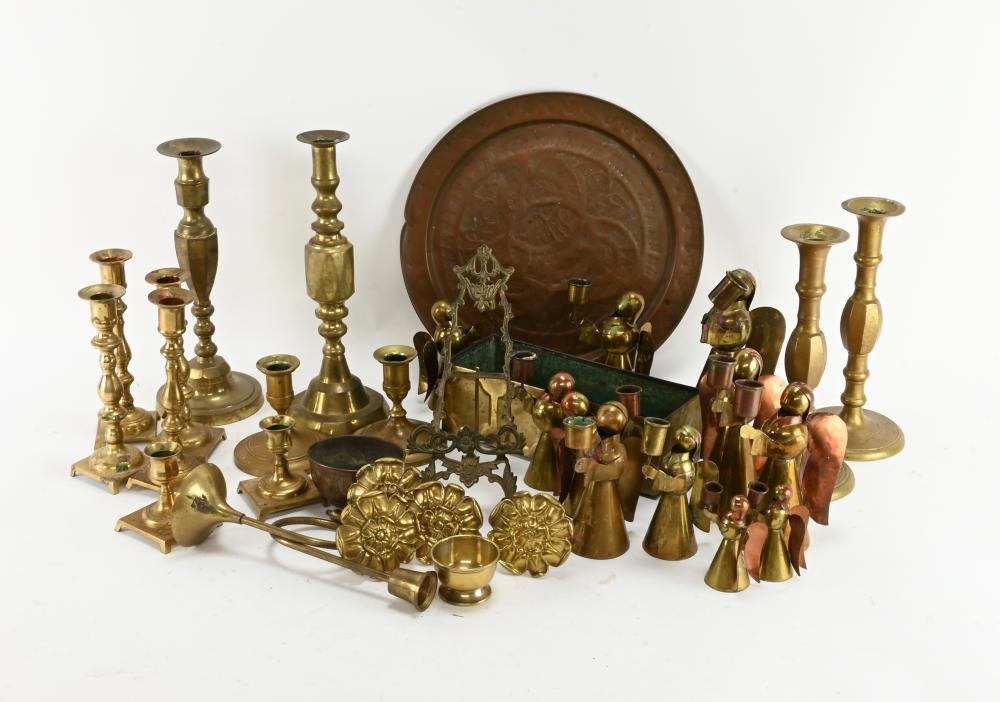 Vintage Brass Copper Estate Group Lot