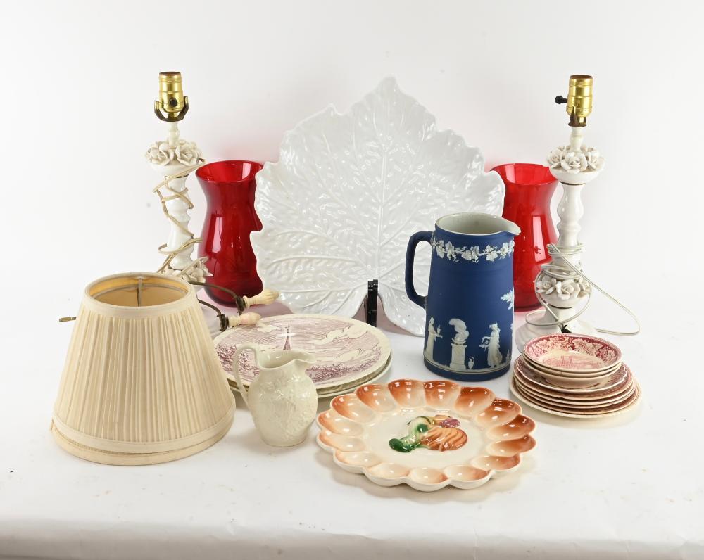 Vintage Porcelain And Glass Estate Group Lot