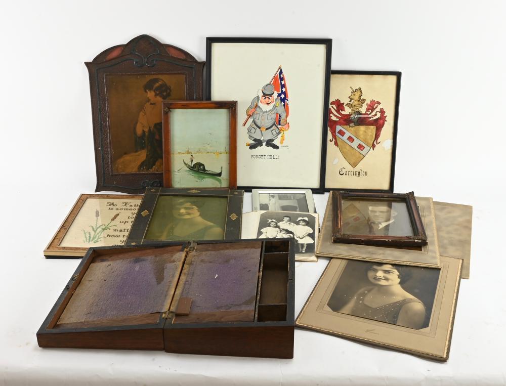 Antique Lap Desk Art Prints And Photos Estate Lot