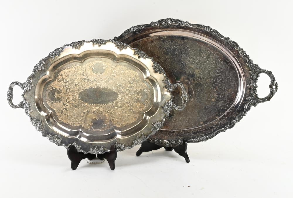 Vintage Silver Plated Serving Trays