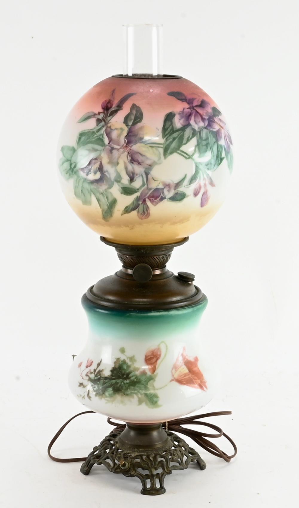 Victorian GWTW Ball Shade Lamp