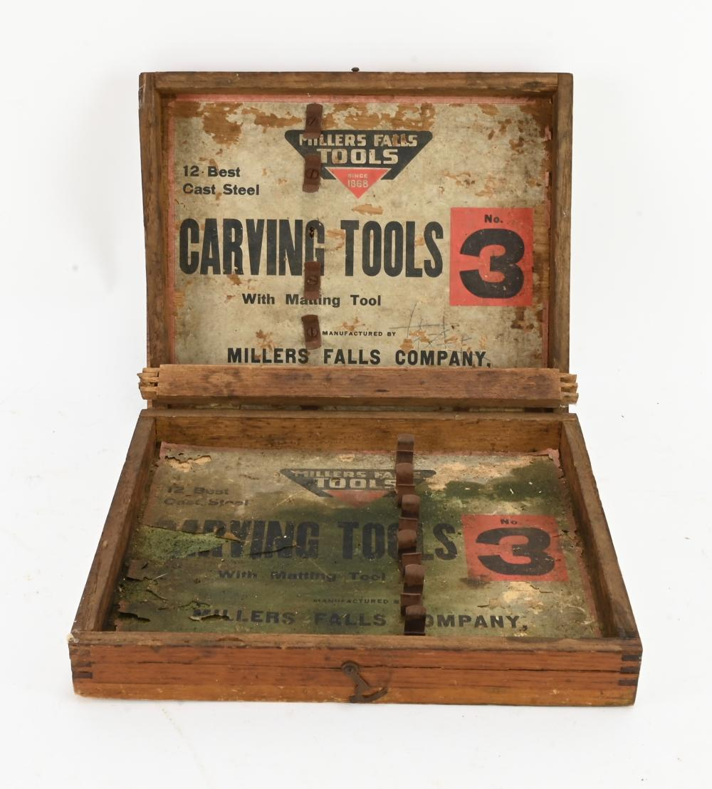 Vintage Miller Falls Tools Carving Box Only
