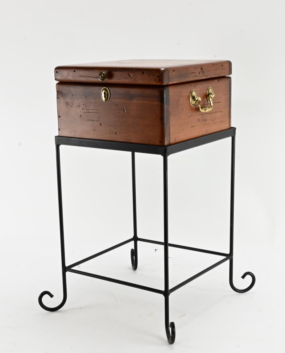 Vintage Handmade Box On Stand