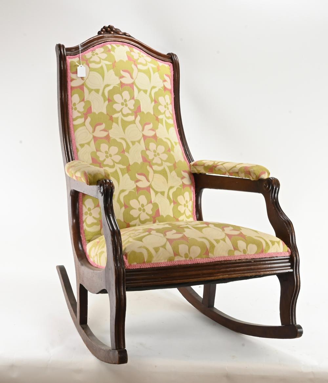 Antique American Victorian Rocking Chair