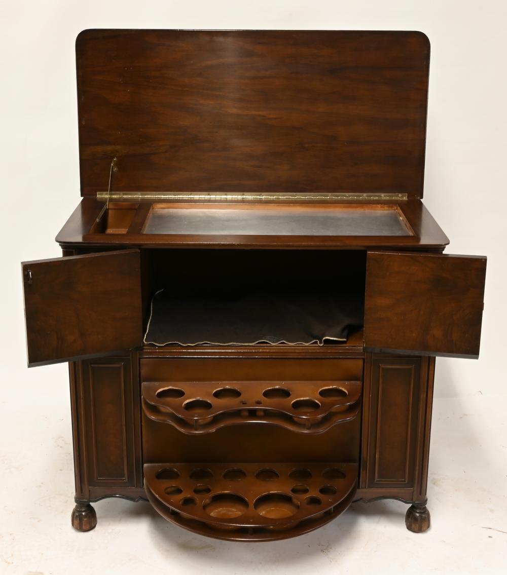 Vintage Mahogany Bar Server Cabinet