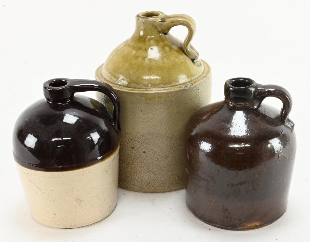 Antique Stoneware And Pottery Jugs