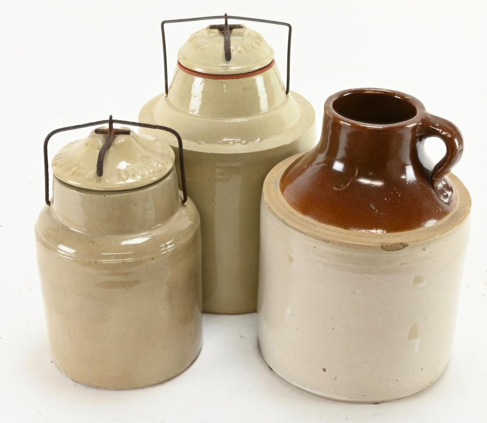 Antique Stoneware Jars