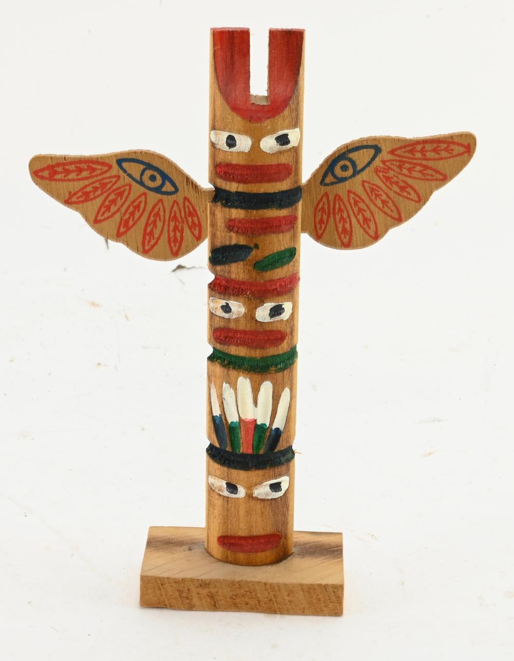 Vintage Native American Totem Pole Souvenir