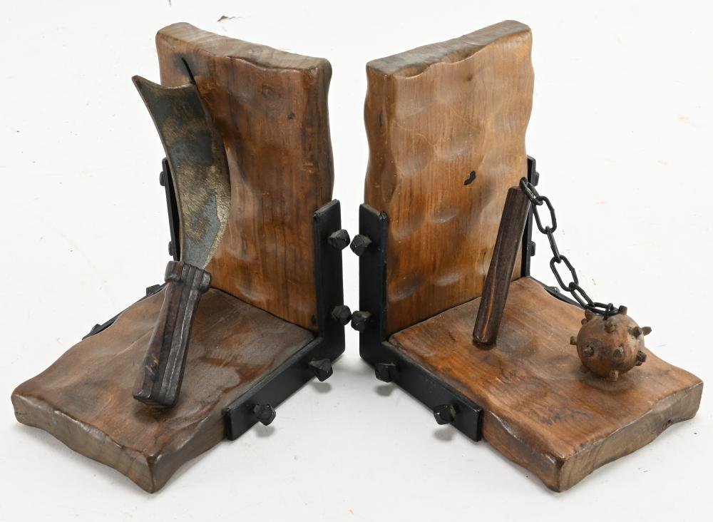 Vintage Medieval Weapons Bookends