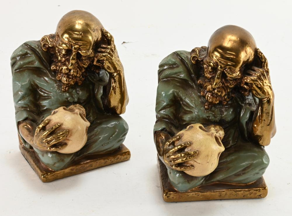 Vintage Alchemists Skull Bookends