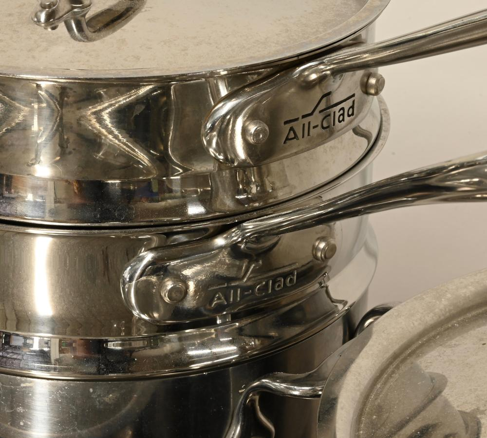 All-Clad Brushed Stainless Kitchen Cookware Estate Collection