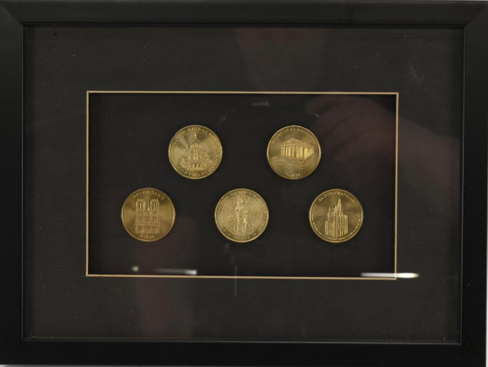 Vintage French Souvenir Tokens Medals