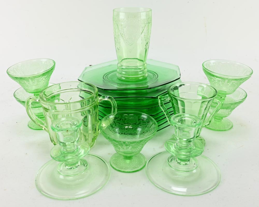 Vintage Green Depression Glass Estate Collection