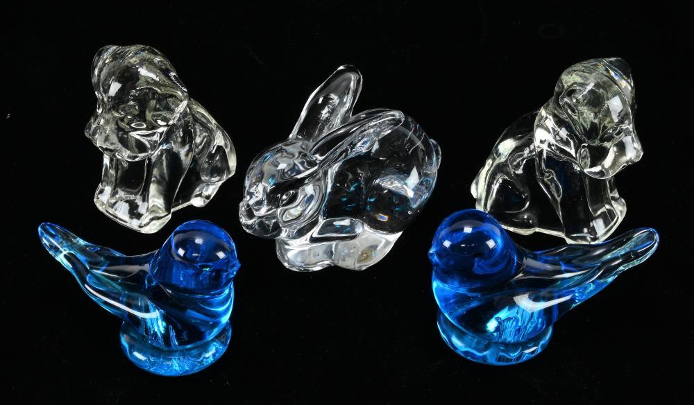 Vintage Crystal Glass Animals
