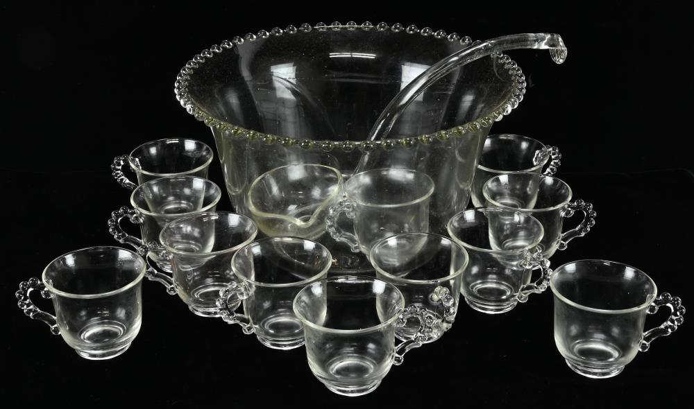 Vintage Imperial Candlewick Glass Punch Set