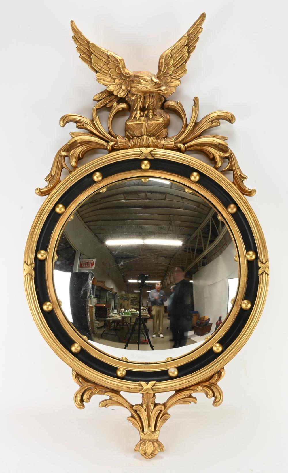 Very Fine Federal Eagle Bullseye Mirror