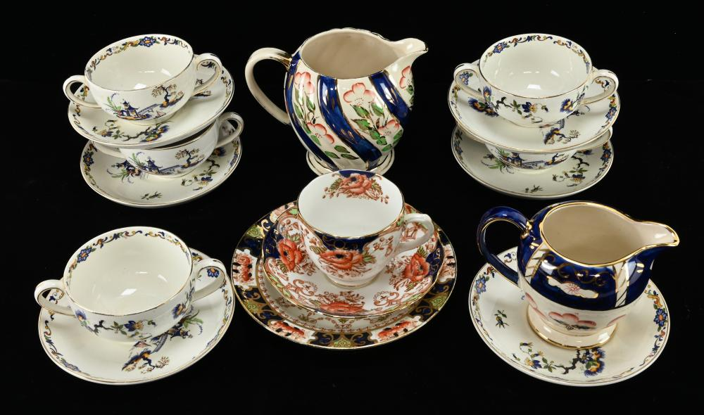 Antique English Dinnerware Estate Collection