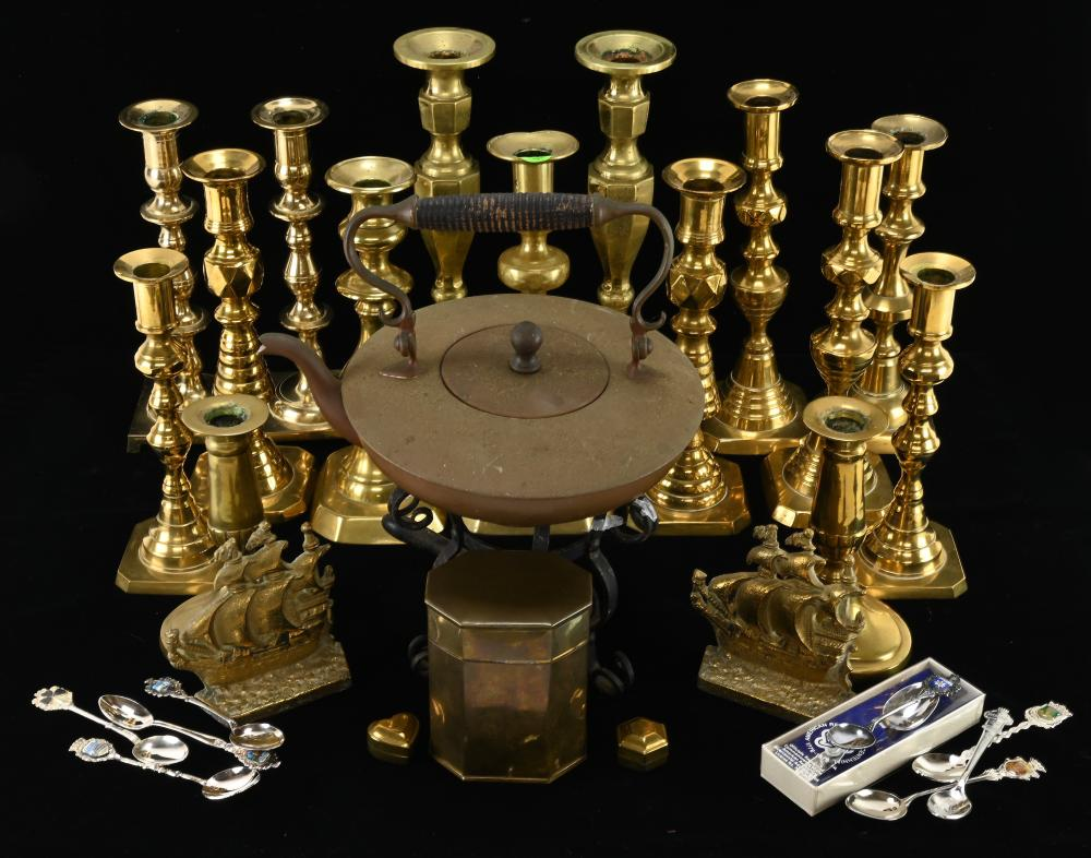 Antique Brass Candle Stick Estate Collection