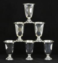 Lot 1: R&B Sterling Silver Goblets #48 Set Of 6 Matching