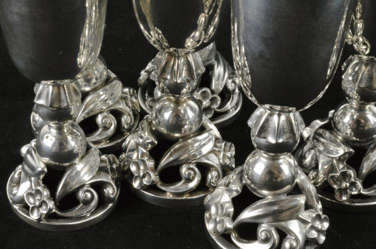 Lot 2: La Paglia International Sterling Silver Set Of 11 Cordials