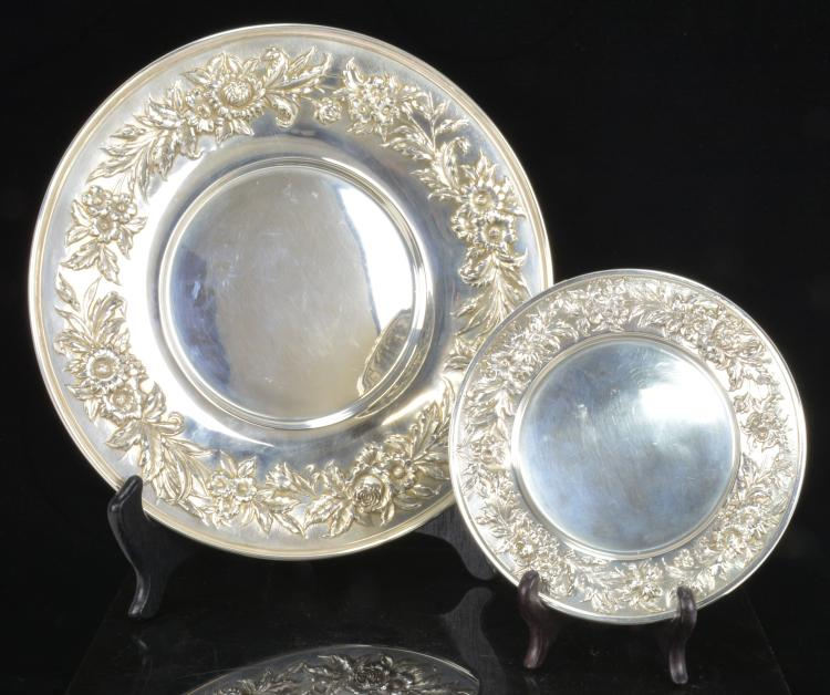 Lot 8: S.Kirk & Son Sterling Silver 727 Repousse Plate