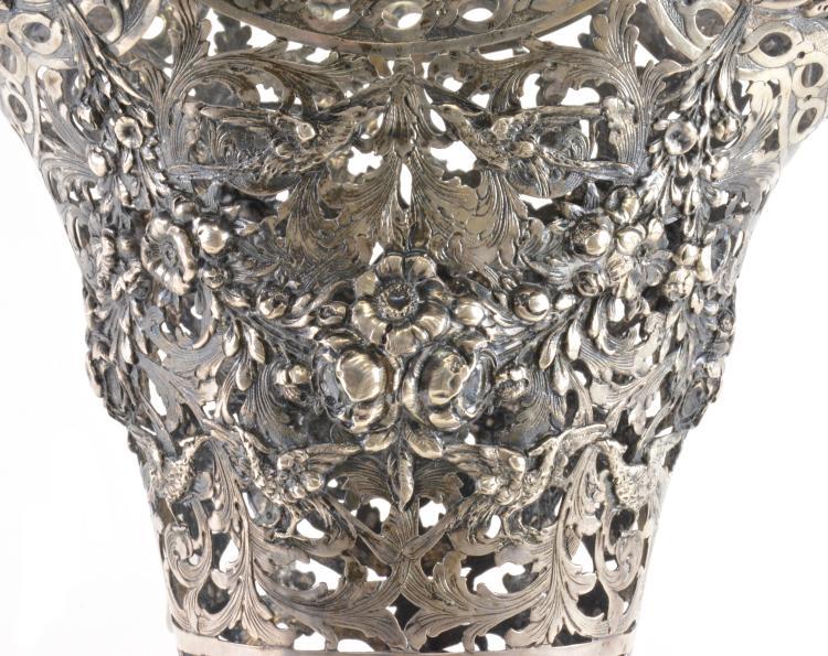 Lot 17: German 800 Silver Large Vase
