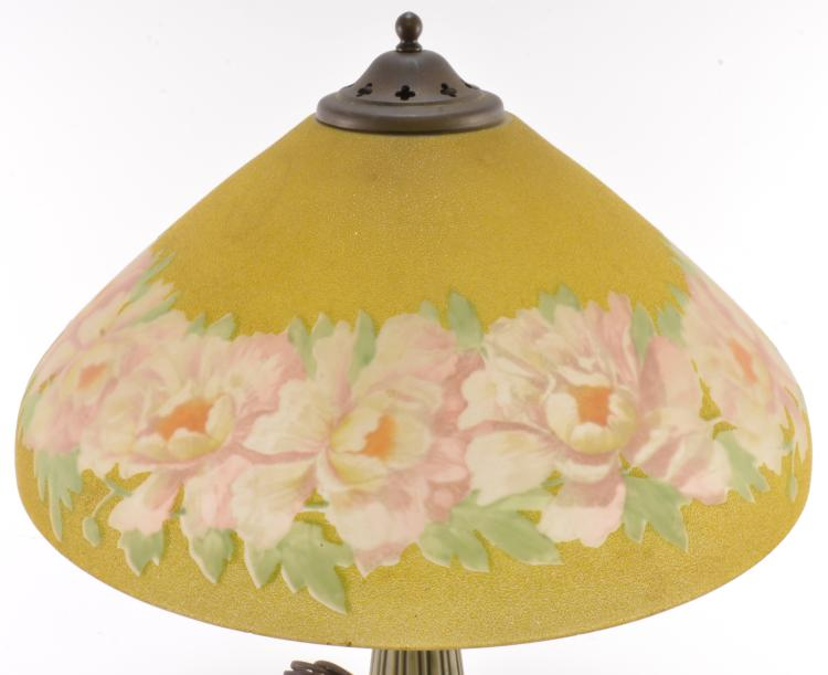 Lot 18: American 1920s Hand Painted Table Lamp