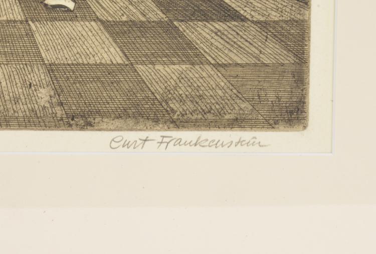 Lot 27: Curt Frankenstein Signed Etching