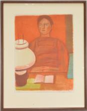 Lot 29: Mid Century Modern Art Pencil Signed Miller