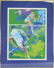 Lot 30: Ted Tanabe Signed Serigraph of Tennis Players