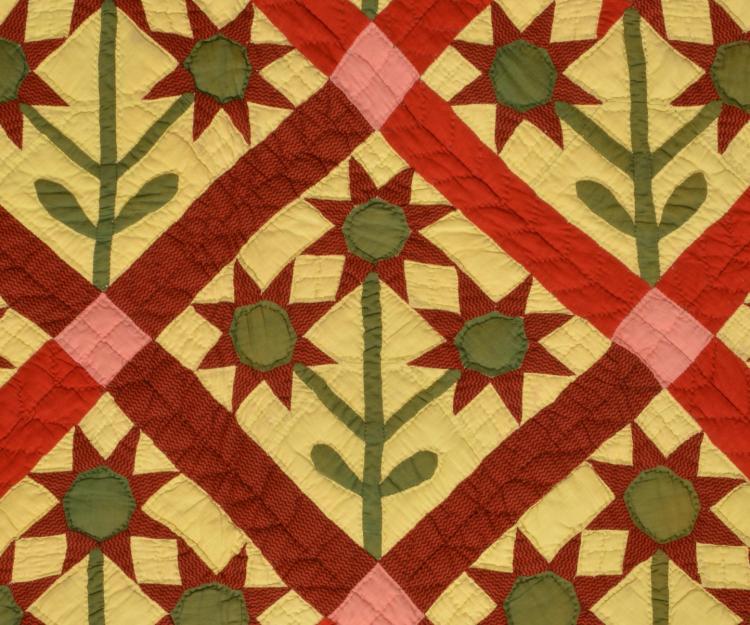 Lot 41: Piedmont NC Antique Applique Quilt
