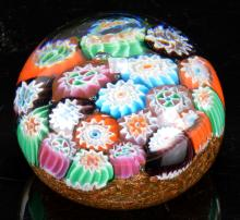 Lot 49: Antique Millefiori Art Glass Paperweight