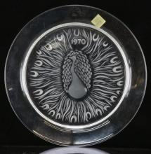 Lot 50: Lalique Peacock Crystal Plate