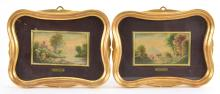 Lot 54: Silvio Silvestri Pair Oil Paintings