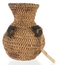 Lot 59: Antique Arizona Havasupaí Water Bottle Basket S. C. G. Watkins Collection